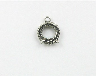 Sterling Silver 3-D Lasso or Rope Charm