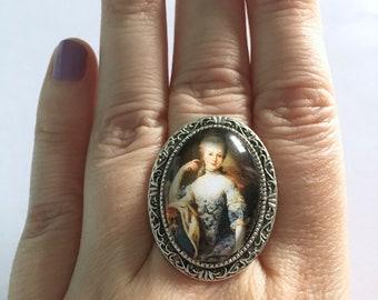 Marie Antoinette Inspired Cameo Ring
