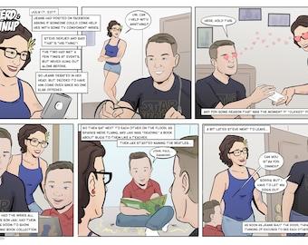 Custom Comic Strip - personalized anniversary, birthday, holiday gift