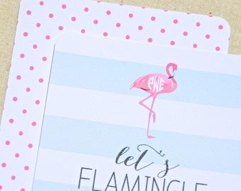 Let's Flamingle! Invitations