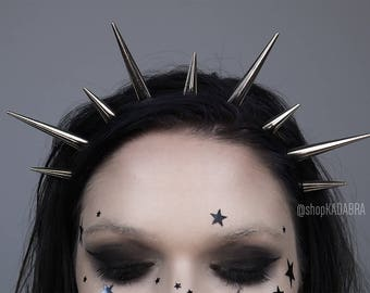 Spiked Headband | Silver Spiked Headband | Headband | Crown | Spiked Crown | ULTRA SPIKE CROWN | Kadabra