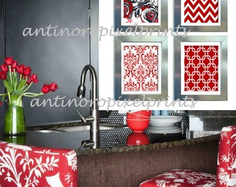 Red Kitchen Wall Art Red White And Black Kitchen Ideas Red And & Black White Red Kitchen Art Eat Drink Be Merry Red Black White Wall ...
