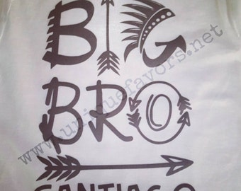 Big Brother Bro custom design! Other finishes and colors available! Uncle also available. Personalized with name FREE!