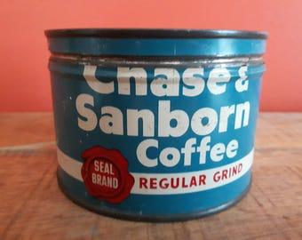 Chase & Sanborn tin metal can