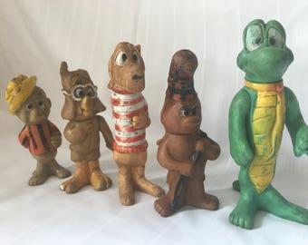 Set of 5 1969 Walt Kelly Figurines