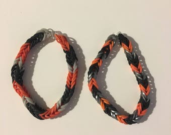 Rainbow Loom - Half Life Inspired Double Fishtail Bracelets