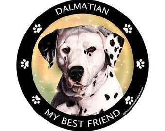 Dalmatian My Best Friend Dog Magnet