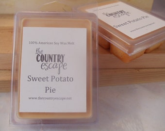 Sweet Potato Pie Scented 100% Soy Wax Melt - Fresh Pie Scent - Maximum Scented