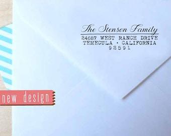 CUSTOM pre inked address STAMP from USA, custom address stamp, pre inked custom address stamp, return address stamp with proof - Stamp c6-12