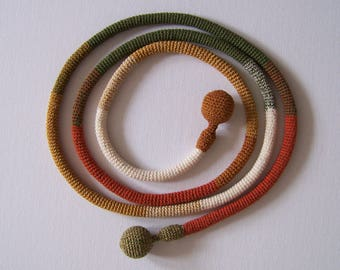 BRECHJE... cord necklace, You can wear it in different ways.