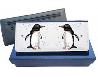 Penguin purse, leather purse, penguin, penguin gift, penguin wallet, gift for mum, birthday gift