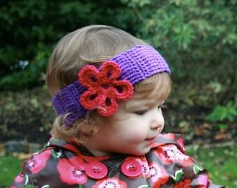 CROCHET PATTERN baby flower headband pattern, crochet headband baby pattern (10) Instant download