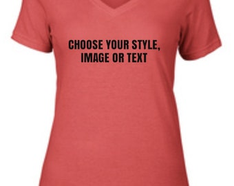 Customized V-neck T-shirt