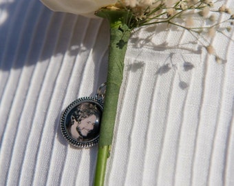 20mm Photo Boutonniere Charm, Small Charm, Personalized Charm, photo charm, picture charm