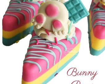 Bunny Buns Handmade Artisan Vegan Soap Cake Slice/Cold Process/Easter