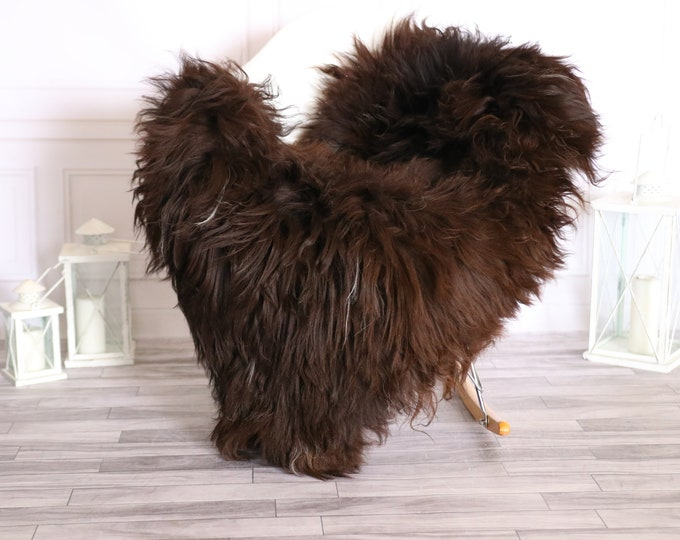Icelandic Sheepskin | Real Sheepskin Rug |  Super Large Sheepskin Rug Chocolate | Fur Rug | Homedecor #MIHISL29