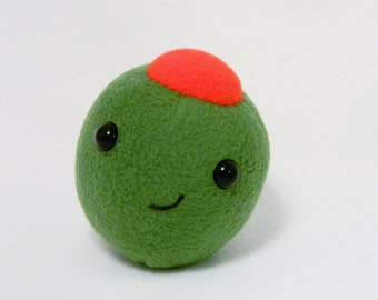 Plush olive stuffed food toy