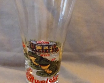 Vintage 1996 Bud Frog Beer Glass