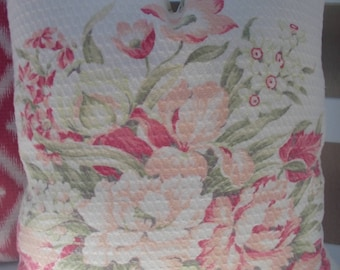 Vintage  Faded Barkcloth 18 inch pillow cover