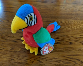 Jabber Beanie baby with tag errors