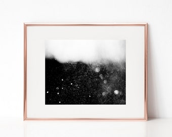 Abstract Wall Art, Black and White Bokeh Photography Wall Deco Poster, Printable Art, Black and White Poster, Abstract Digital Print