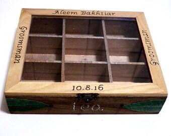 Wood Tea Box, Tea Bag Box, Tea Gift Box, Rustic Tea Box, Tea Caddy, Tea Container, Engraved Tea Box Wooden, Storage Box for Tea, Tea Holder