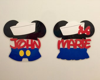 Personalized Sailor Mickey or Minnie - Disney Cruise Door Magnet - Door Magnets