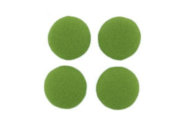 """Sale Clearance 40 Pieces 1/2"""" Round Fabric Covered Flatback in Lime Juice"""