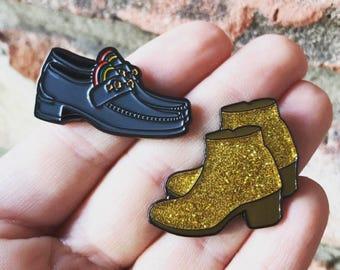 H's Shoes Enamel Pins