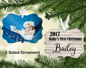Personalized Baby's First Christmas Ornament, Christmas Ornament, Baby Christmas Ornament, Christmas Gifts