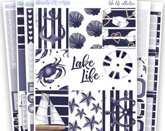 Lake Life Collection - Kit | Planner Stickers for Erin Condren Vertical Life Planner