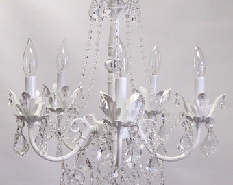 Bebe Chandelier-Shabby Chic style available in 4 sizes and many finishes, custom made for you