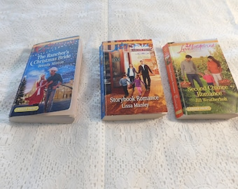 Lot of 3 Vintage Love Inspired Romance Books by Haarequin - LARGE PRINT