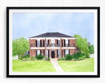 Custom Home Portrait, Custom Home Watercolor, House Painting, Home Portrait, Custom Watercolor House, House Watercolor, House Portrait