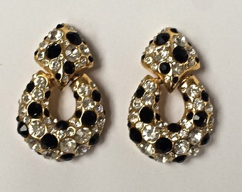 Chunky Drop Rhinestone Earrings by Blanca