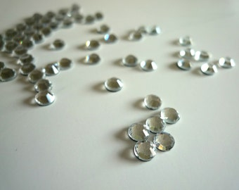 CRYSTAL  RHINESTONES. ( Clear Crystal )  144 pieces , One Gross SS20  (4.6 - 4.8 mm)  01