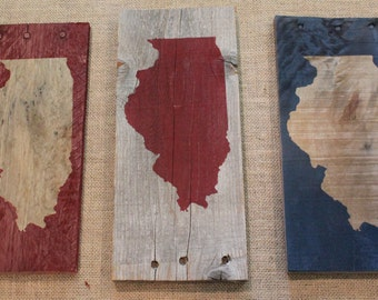 State Signs on Reclaimed Wood