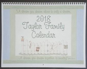 2018 Calendar A Dream you Dream