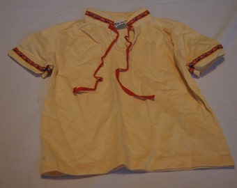 Vintage 1980's - Garanimals Baby Shirt in Yellow