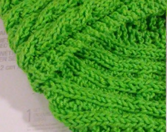 Green cable scarf