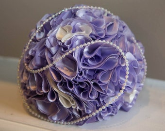 Silk Flower Balls With Pearls
