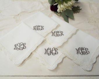 Monogrammed Hankies | Bridesmaids Handkerchiefs