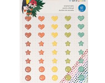 Shimelle Box of Crayons Glitter Enamel Dots  -- MSRP 4.00