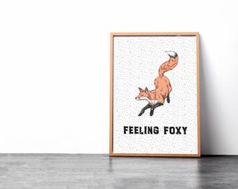 Printable Wall Art | Feeling Foxy Print | Fox Art
