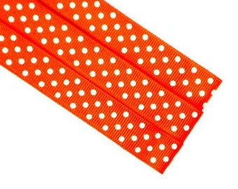 Pattern Magnet - Chart Keeper Magnetic Bookmark - Polka Dots (Orange)