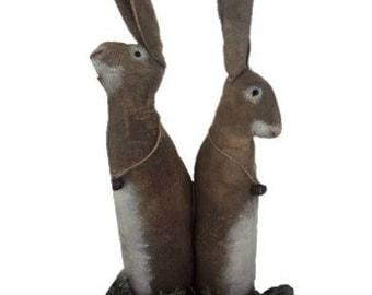 Primitive Rabbit Set | Folk Art Rabbit set | Primitive spring decor | Easter decorations | Farmhouse decor | Rustic | Primitive doll