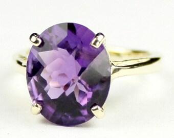 Amethyst, 18Ky Gold Ring, R055