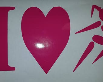 Runner Girl, 'I (Love) 2 Run'  Window/Car Decal, you did it! Show it! Your choice of color.