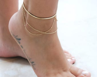 ankle anklets gold bracelet products nana bijou anklet collections triple productimg sweetheart finejwlry