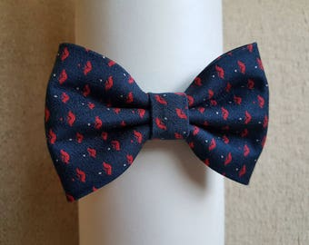 Navy/ red bow tie